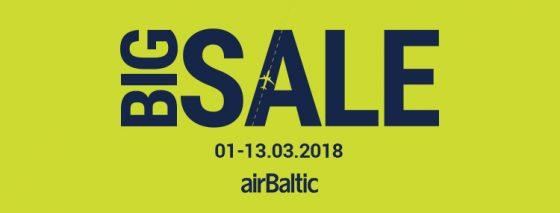 Большая распродажа airBaltic!
