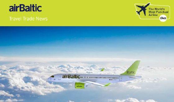 Распродажа от airBaltic на полеты из Москвы, Санкт-Петербурга и Калининграда!