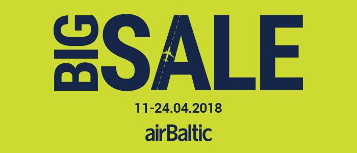 Большая распродажа от airBaltic на полеты из городов России и Казахстана!