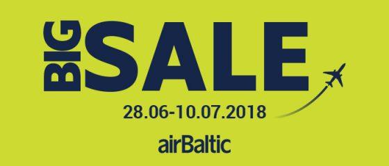 Большая распродажа от airBaltic на популярные направления!