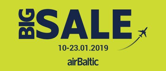 Большая распродажа Airbaltic началась!