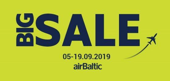 Большая распродажа авиабилетов airBaltic!
